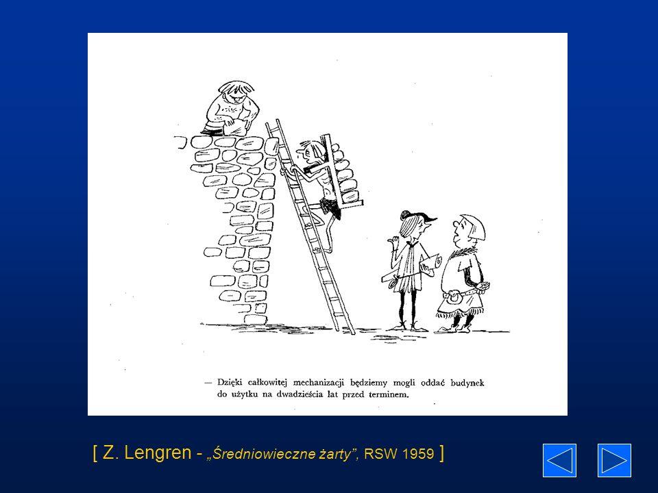 """[ Z. Lengren - """"Średniowieczne żarty , RSW 1959 ]"""
